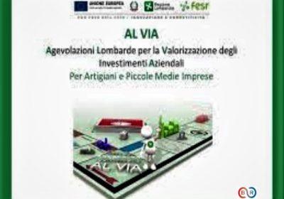 """Bando """"AL VIA"""" – Agevolazioni Lombarde per la Valorizzazione degli Investimenti Aziendali"""