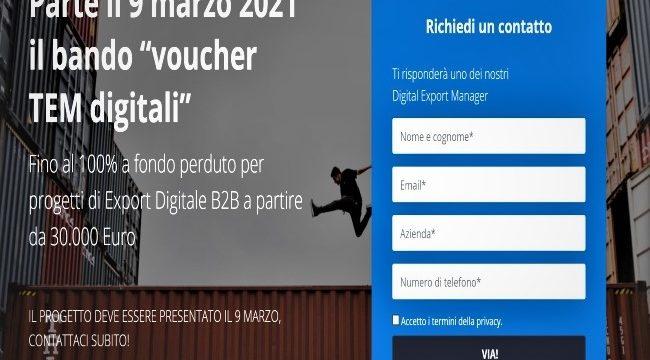 "Bando ""voucher TEM digitali"""